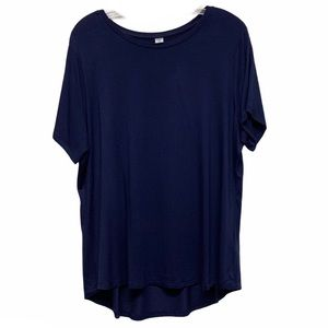 Old Navy navy blue Luxe top XL NWT